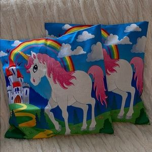 Other - Unicorn throw pillow covers